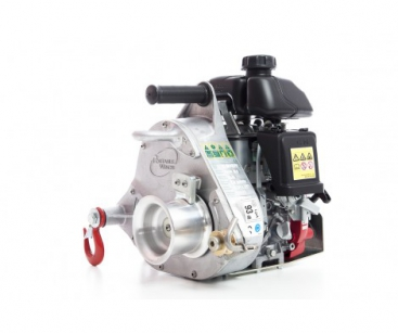HIGH-SPEED GAS-POWERED PULLING WINCH. MAX. PULLING FORCE: 350 KG